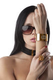 Beautiful fashion woman with jewellery Royalty Free Stock Photos