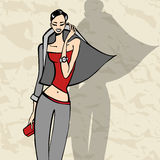 Beautiful Fashion woman Stock Images