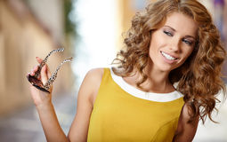 Beautiful fashion woman outdoor Royalty Free Stock Photography