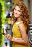 Beautiful fashion woman outdoor Stock Photos