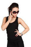 Beautiful fashion woman on the phone Stock Photo