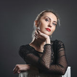 Beautiful fashion woman portrait Royalty Free Stock Photography