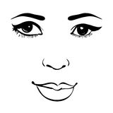 Beautiful fashion woman portrait for make up on background. Vector illustration eps 10 Stock Images
