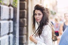 Beautiful  fashion woman on the street Stock Image