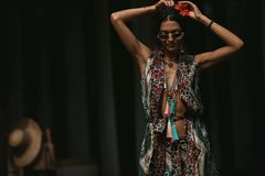 Beautiful Fashion woman stylish boho with accessories royalty free stock image
