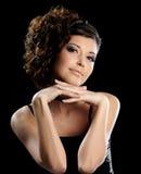 Beautiful fashion woman with stylish hairstyle Stock Images