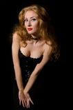 Beautiful fashion woman vamp style Stock Photo