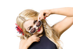 Beautiful fashion woman wearing sunglasses Stock Photo