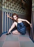 Beautiful fashion women stock photos