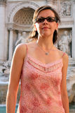 Beautiful fashion young woman in Rome Italy Royalty Free Stock Image