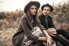 Beautiful fashionable couple Royalty Free Stock Photo