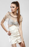 Beautiful fashionable girl in glamour dress Stock Images