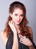 Beautiful Fashionable Half Naked Elegant Girl Royalty Free Stock Images