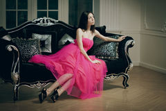 Beautiful fashionable luxury woman Stock Photography