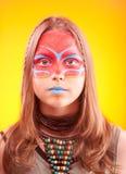 Beautiful fashionable teen girl with make-up Stock Image