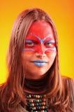Beautiful fashionable teen girl with make-up Stock Photography