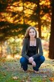 Beautiful fashionable teen girl outdoors Royalty Free Stock Photography