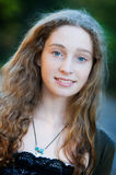 Beautiful fashionable teen girl outdoors Stock Image