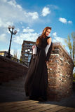 Beautiful fashionable woman in the street Royalty Free Stock Images