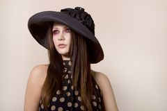 Beautiful fashionable young woman Stock Image
