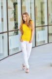 Beautiful fashionable young woman Stock Photo