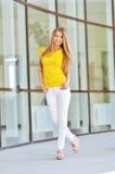 Beautiful fashionable young woman Stock Photos