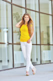 Beautiful fashionable young woman Stock Photography