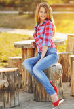 Beautiful fashionable young woman. Royalty Free Stock Images