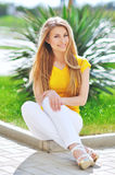 Beautiful fashionable young woman. Royalty Free Stock Photo