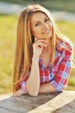 Beautiful fashionable young woman. Stock Photos