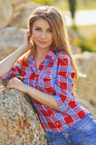 Beautiful fashionable young woman. Royalty Free Stock Photography
