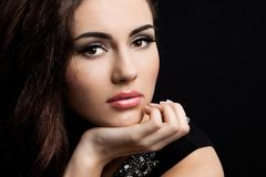 Beautiful fashioned woman Royalty Free Stock Photography