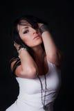 Beautiful fasion girl with long hair Stock Image