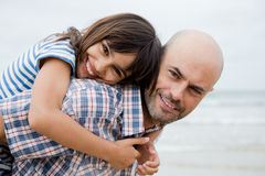 Beautiful father and daughter portrait Royalty Free Stock Photos