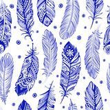 Beautiful Feather pattern seamless. For you business Royalty Free Stock Photo