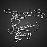 Beautiful 14 February stylish text design for vale Royalty Free Stock Photo