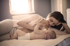 Beautiful feeling for mother royalty free stock image