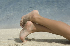 Beautiful feet Stock Image