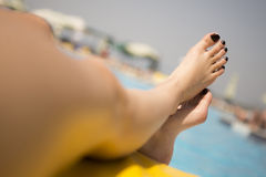Beautiful feet. Royalty Free Stock Photo