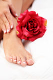 Beautiful feet and hands Royalty Free Stock Photos