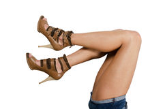 Beautiful femail legs Stock Photos
