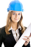 Beautiful female architect Royalty Free Stock Photos