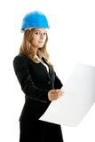 Beautiful female architect Stock Image