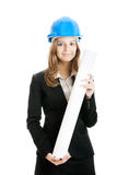 Beautiful female architect Stock Photo