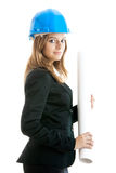Beautiful female architect Royalty Free Stock Images