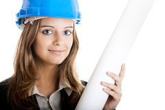 Beautiful female architect Royalty Free Stock Photography