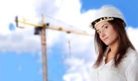 Beautiful female architect Stock Images