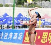 Beautiful female athlete  chenchen Stock Images