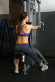 Beautiful Female Athlete at a Gym (8) Stock Photography