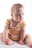 Beautiful female baby. Royalty Free Stock Photography